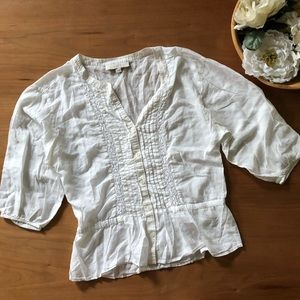 Loft White Blouse